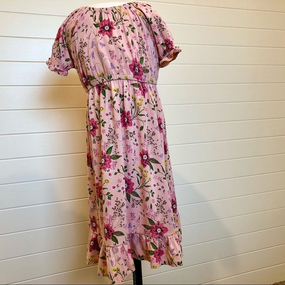 Old Navy Pink Floral Maxi 3T
